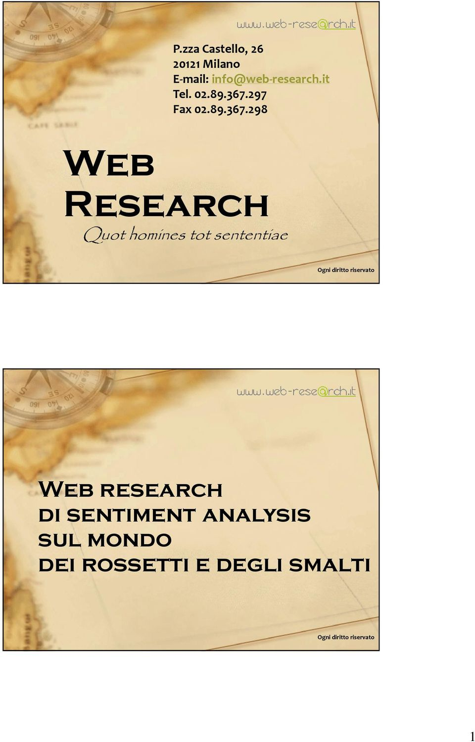 297 Fax 298 Web Research Quot homines tot sententiae Ogni