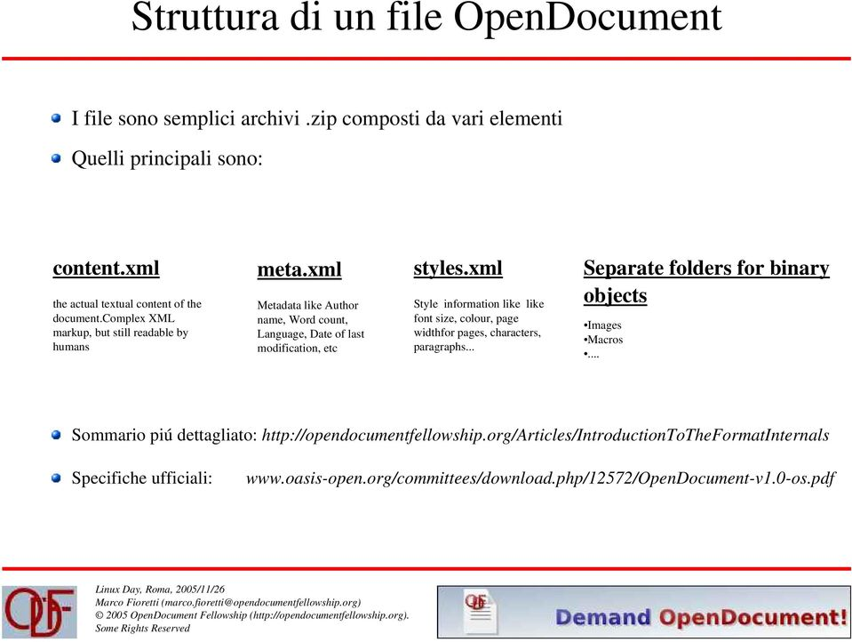 xml Metadata like Author name, Word count, Language, Date of last modification, etc styles.