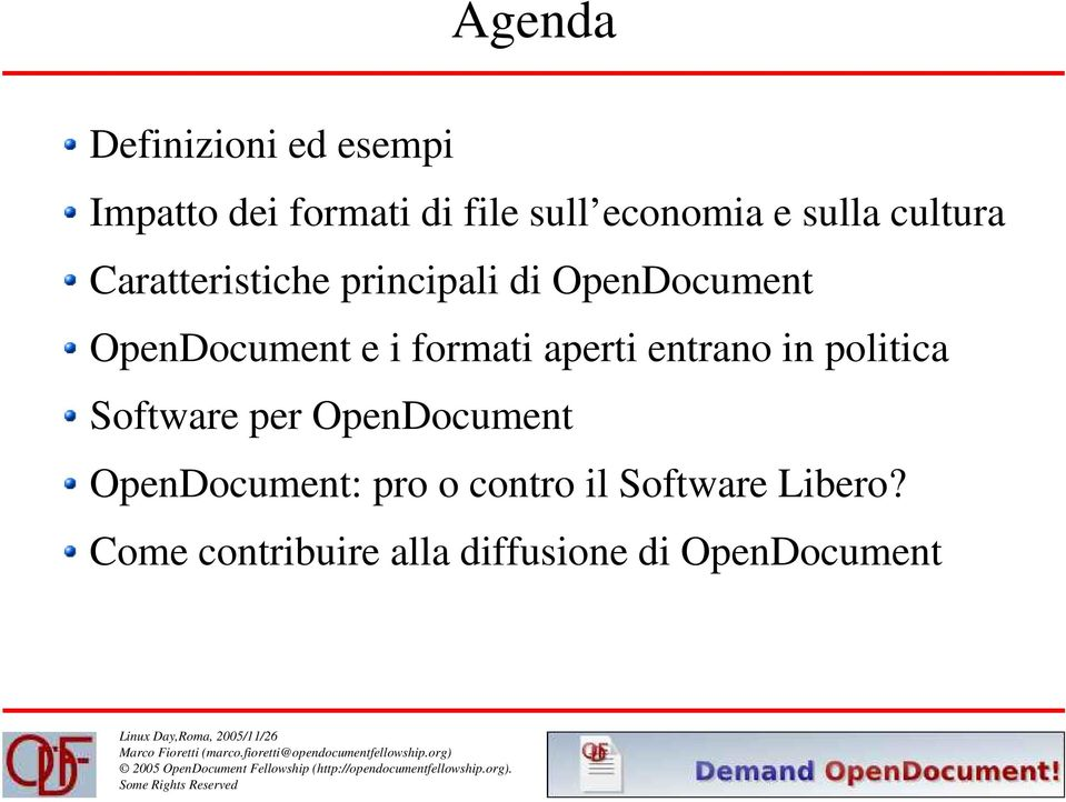 entrano in politica Software per OpenDocument OpenDocument: pro o contro il