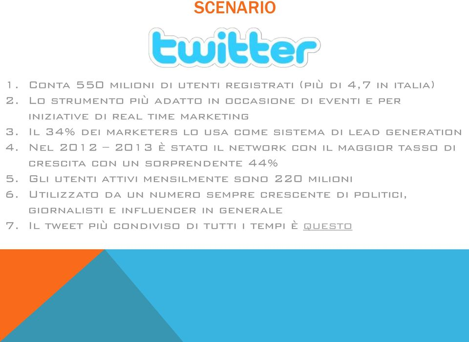 Il 34% dei marketers lo usa come sistema di lead generation 4.