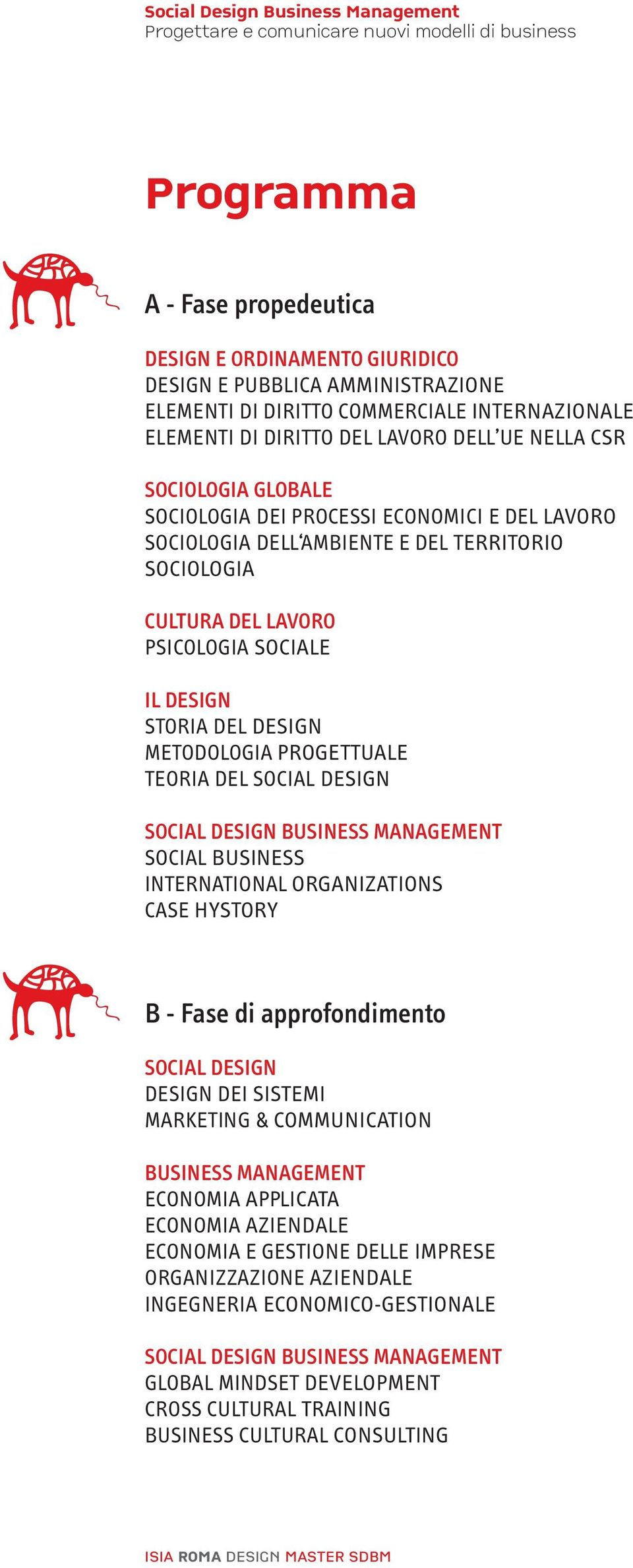 PROGETTUALE TEORIA DEL SOCIAL DESIGN SOCIAL DESIGN BUSINESS MANAGEMENT SOCIAL BUSINESS INTERNATIONAL ORGANIZATIONS CASE HYSTORY B - Fase di approfondimento SOCIAL DESIGN DESIGN DEI SISTEMI MARKETING