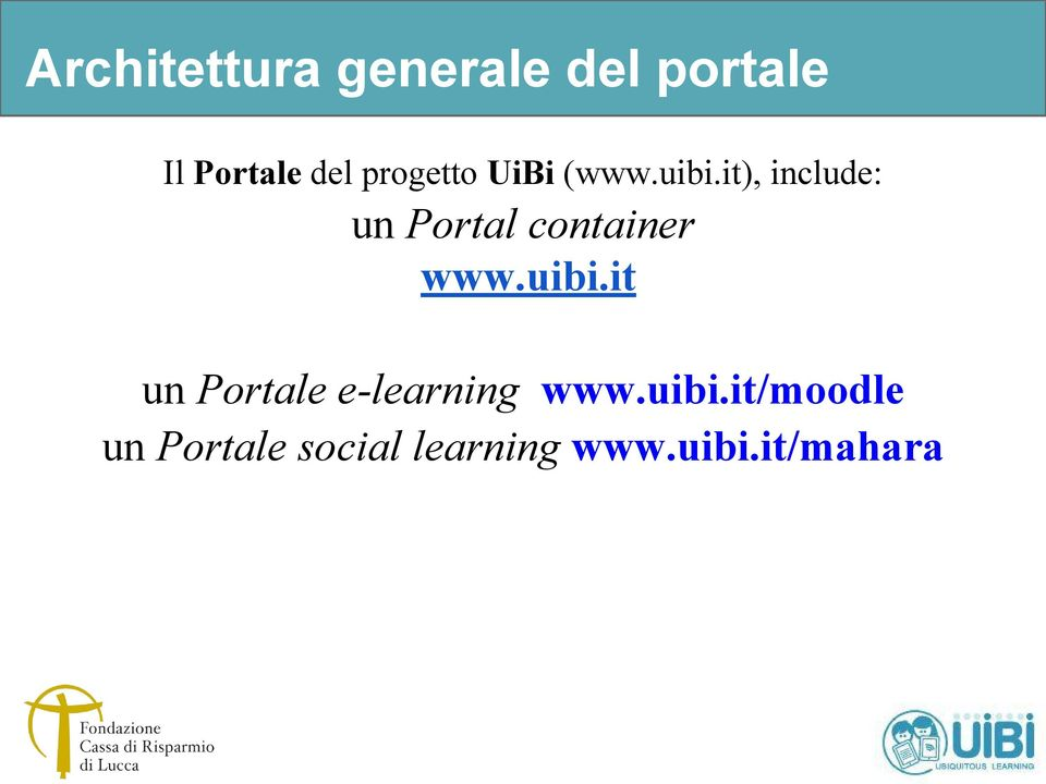 it), include: un Portal container www.uibi.