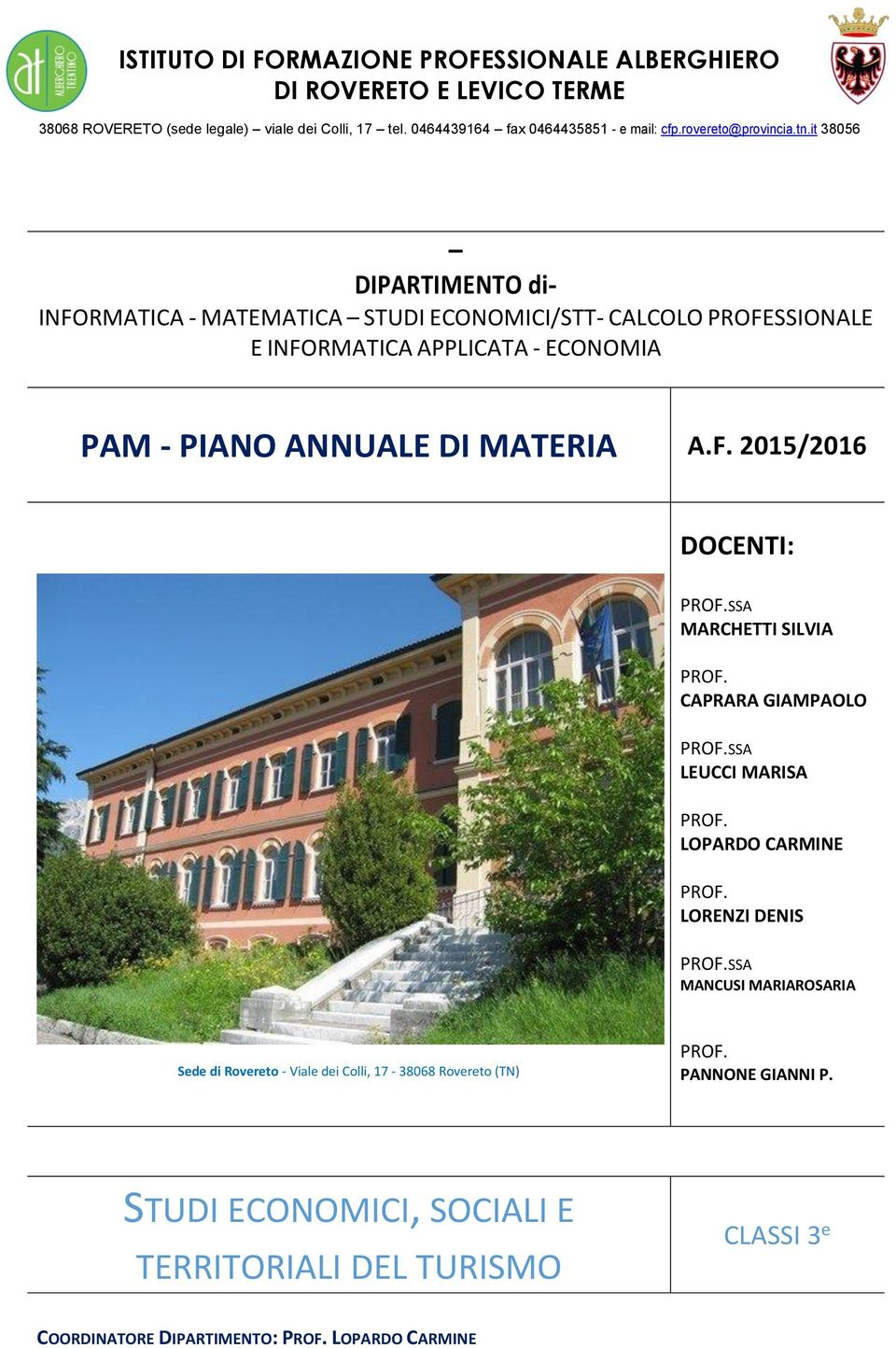 it 38056 DIPARTIMENTO di- INFO