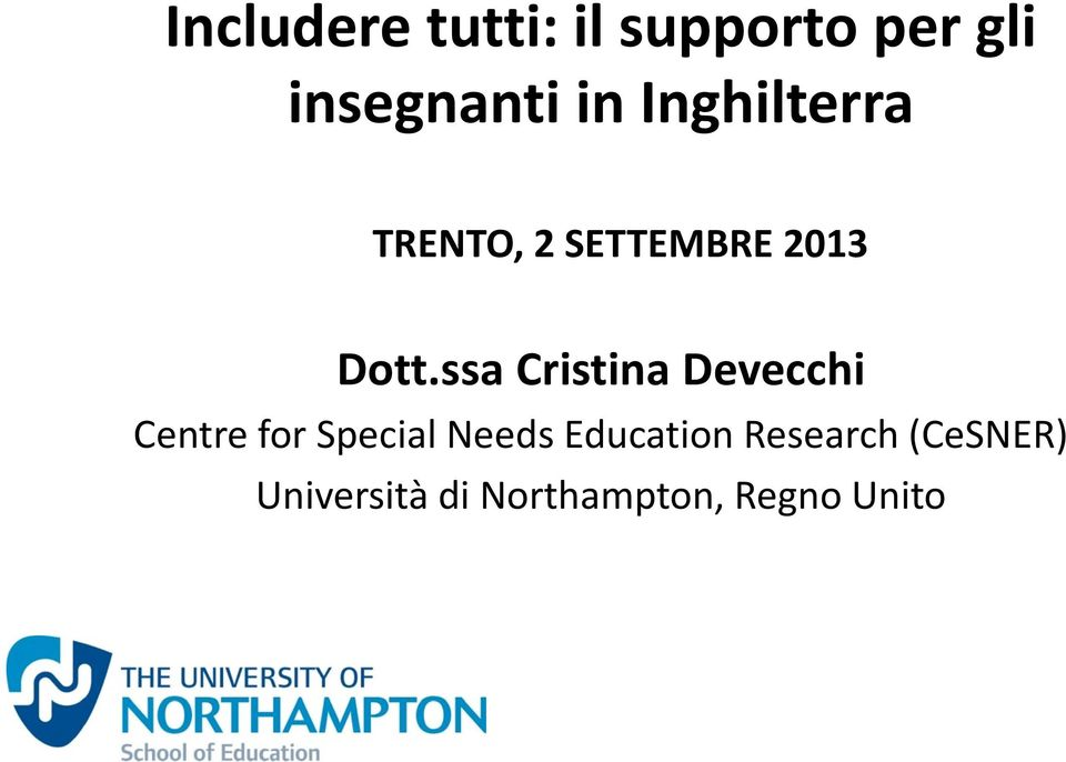 ssa Cristina Devecchi Centre for Special Needs