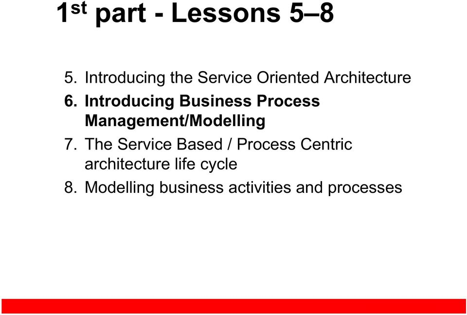 Introducing Business Process Management/Modelling 7.