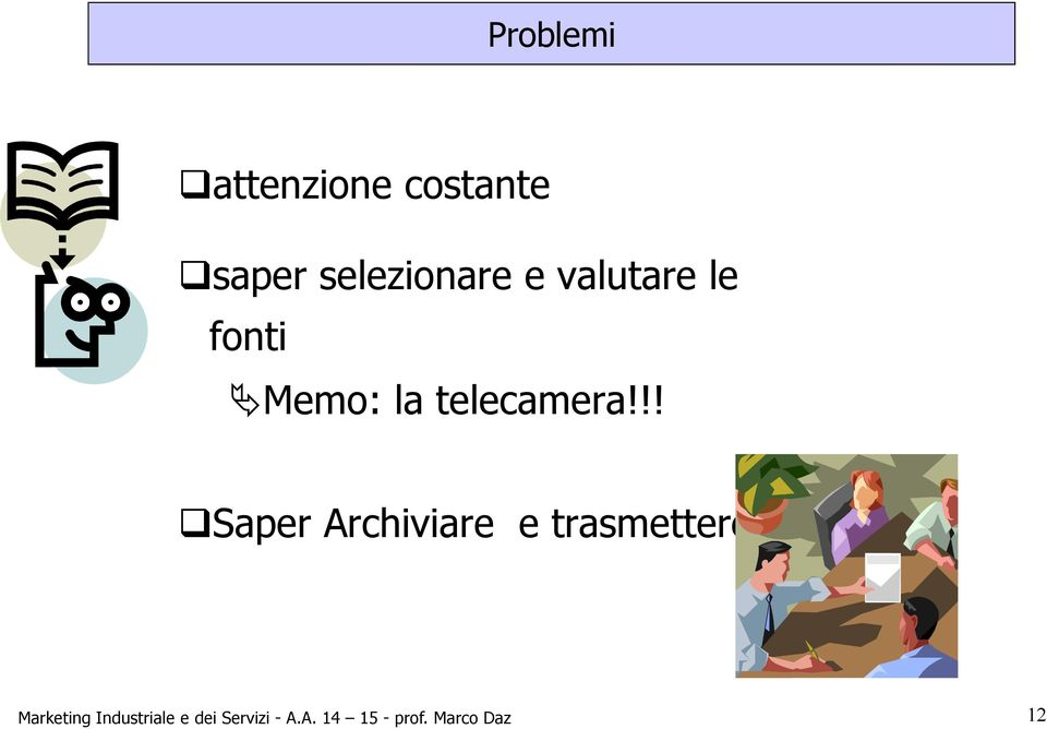 !! Saper Archiviare e trasmettere Marketing