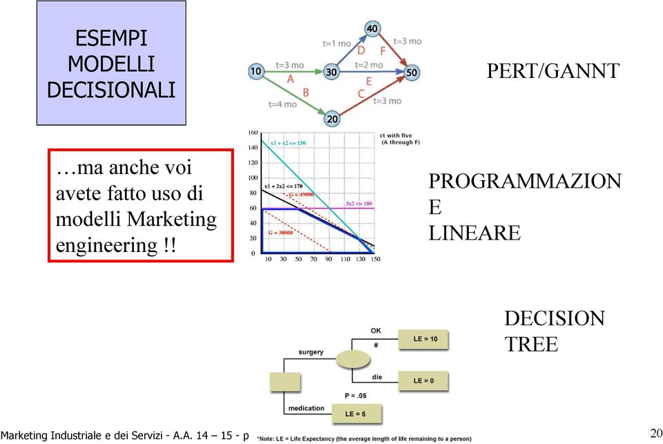 ! PROGRAMMAZION E LINEARE DECISION TREE Marketing