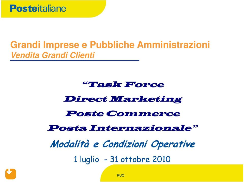 Marketing Poste Commerce Posta Internazionale