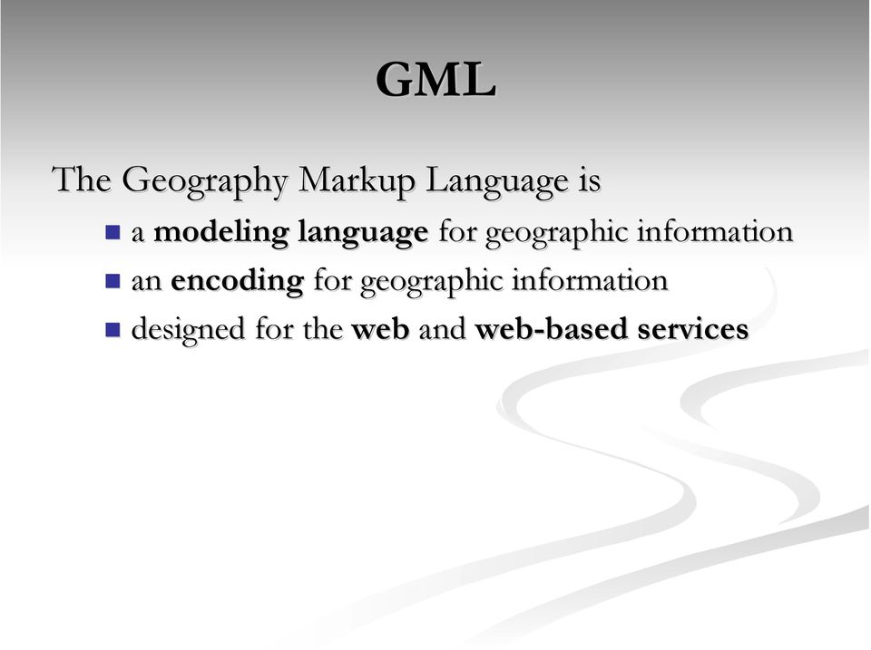 information an encoding for geographic