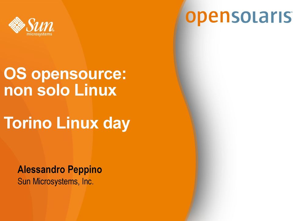 Linux day Alessandro