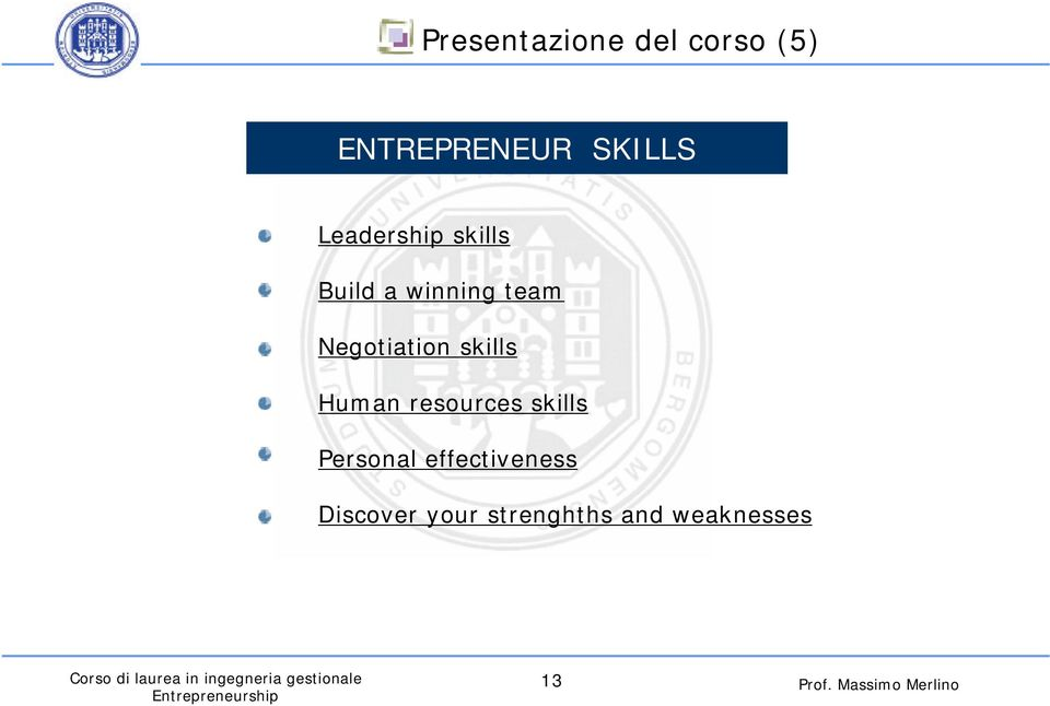 skills Human resources skills Personal effectiveness