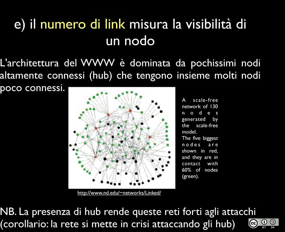 Testo A scale-free network of 130 n o d e s generated by the scale-free model.