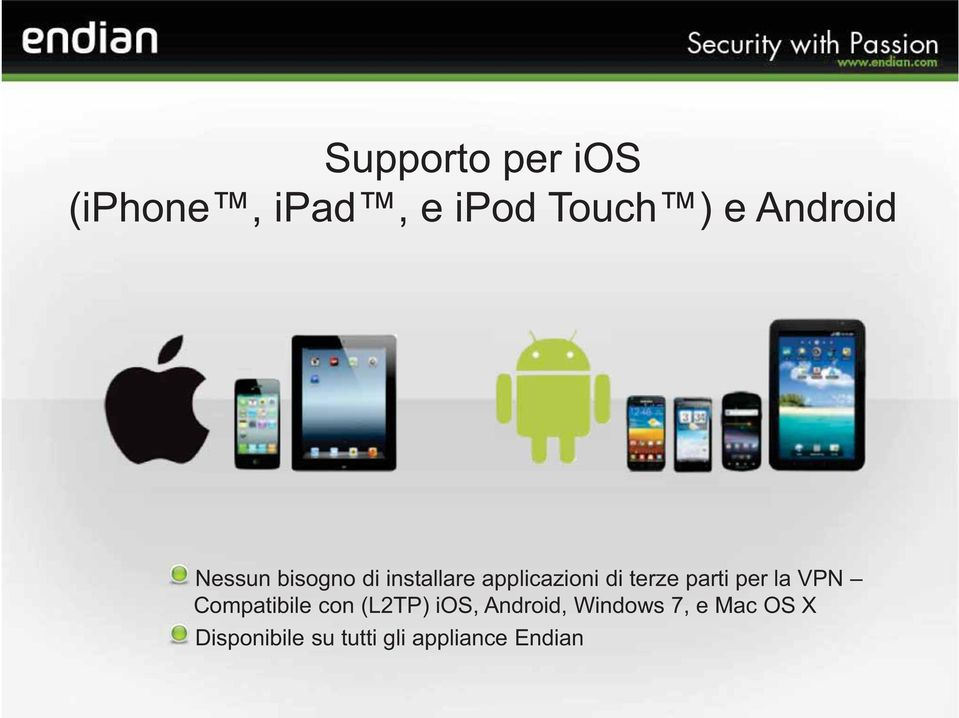 per la VPN Compatibile con (L2TP) ios, Android, Windows