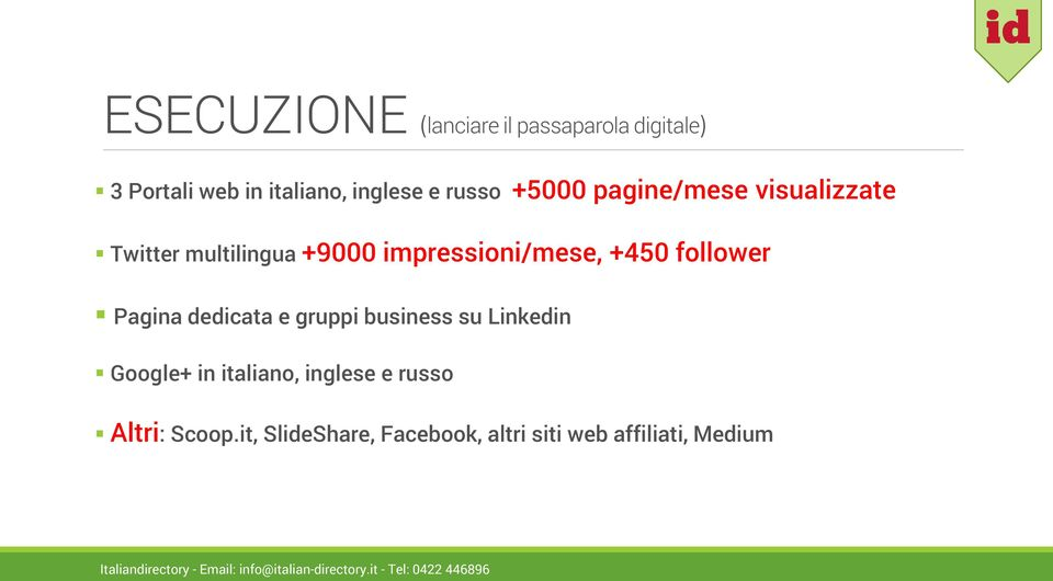 +450 follower Pagina dedicata e gruppi business su Linkedin Google+ in italiano,