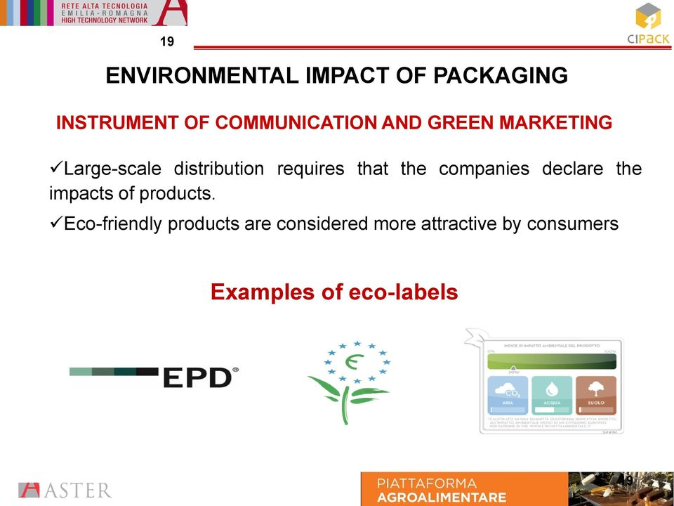 companies declare the impacts of products.