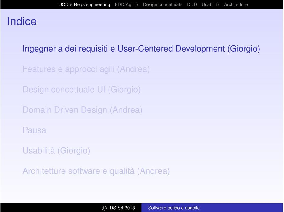 Design concettuale UI (Giorgio) Domain Driven Design