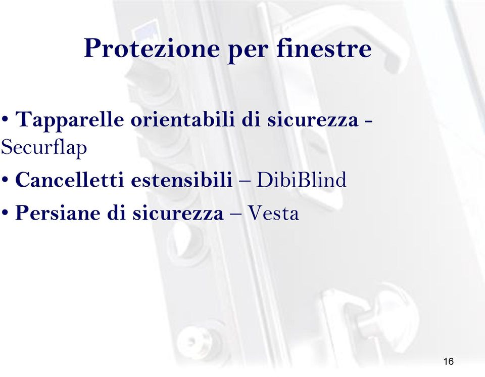 sicurezza - Securflap Cancelletti
