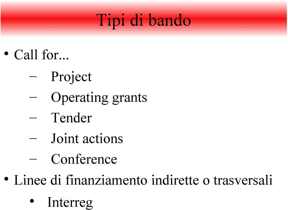 Joint actions Conference Linee di