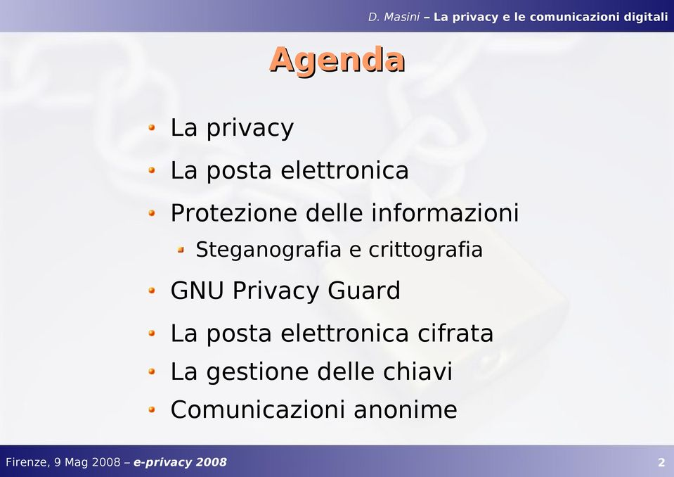 crittografia GNU Privacy Guard La posta