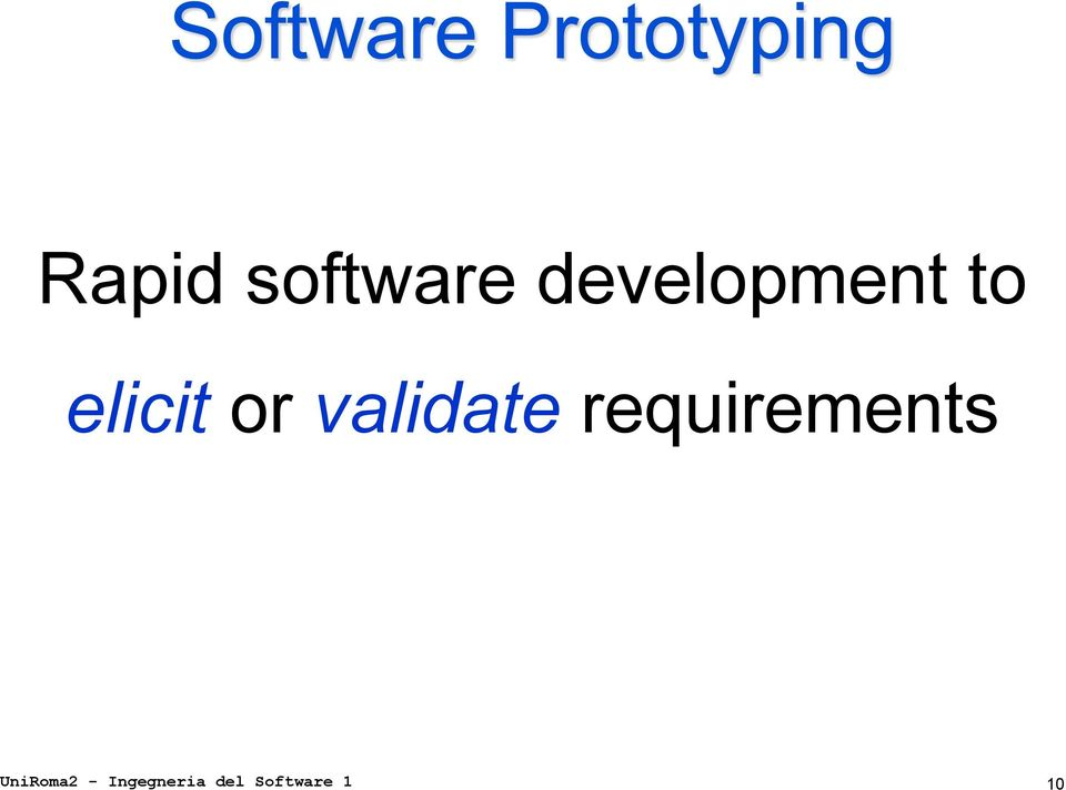 validate requirements