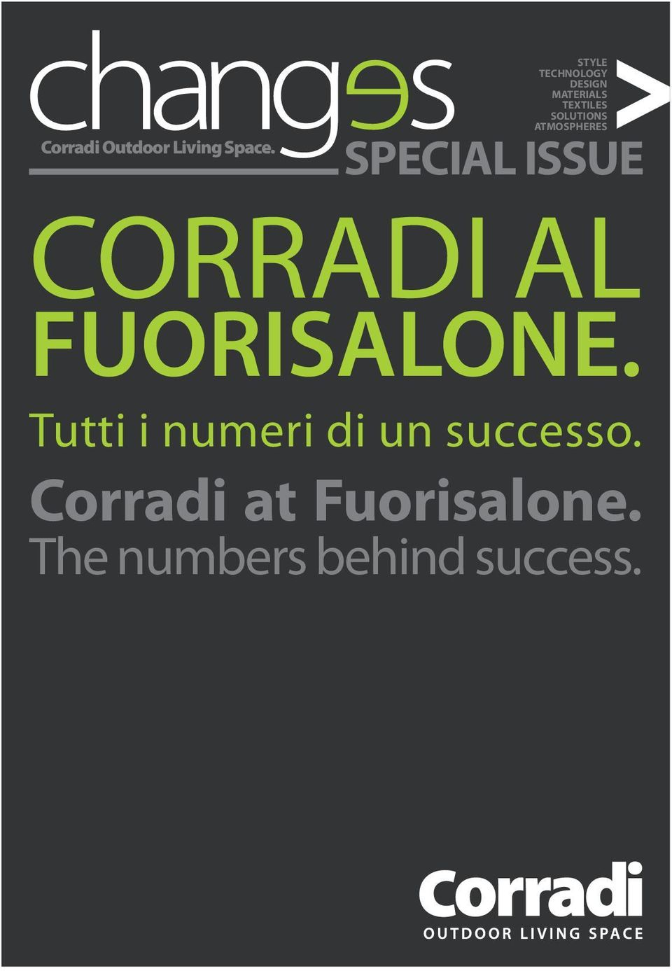 ATMOSPHERES SPECIAL ISSUE CORRADI AL FUORISALONE.