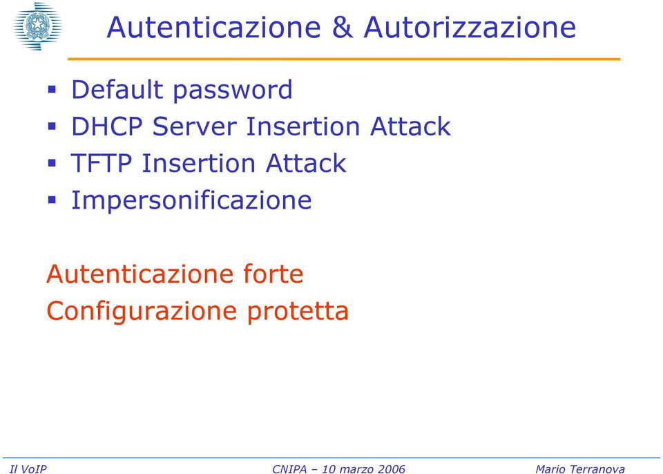 TFTP Insertion Attack Impersonificazione