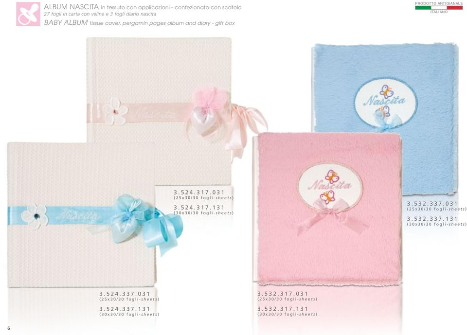 pergamin pages album and diary - gift box 3.524.317.031 3.524.317.131 3.532.