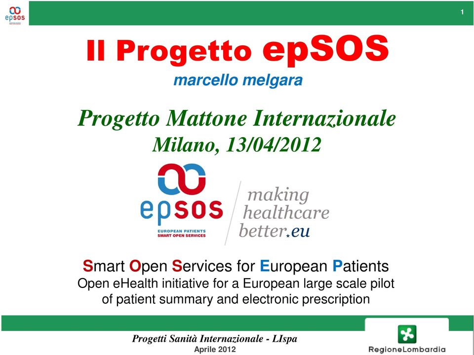 European Patients Open ehealth initiative for a European