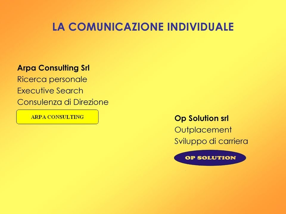 Executive Search Consulenza di