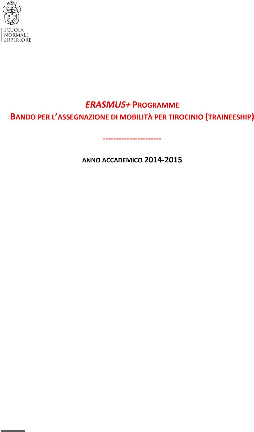 TIROCINIO (TRAINEESHIP)