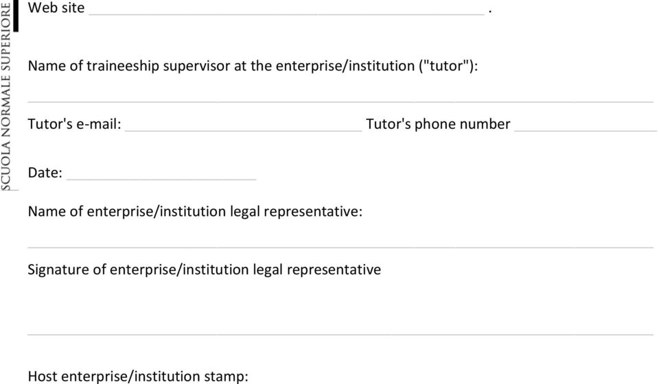 "(""tutor""): Tutor's e-mail: Tutor's phone number Date: Name of"