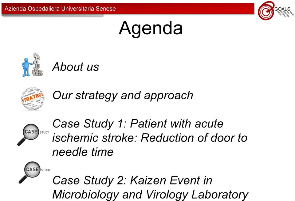 Reduction of door to needle time Case Study 2:
