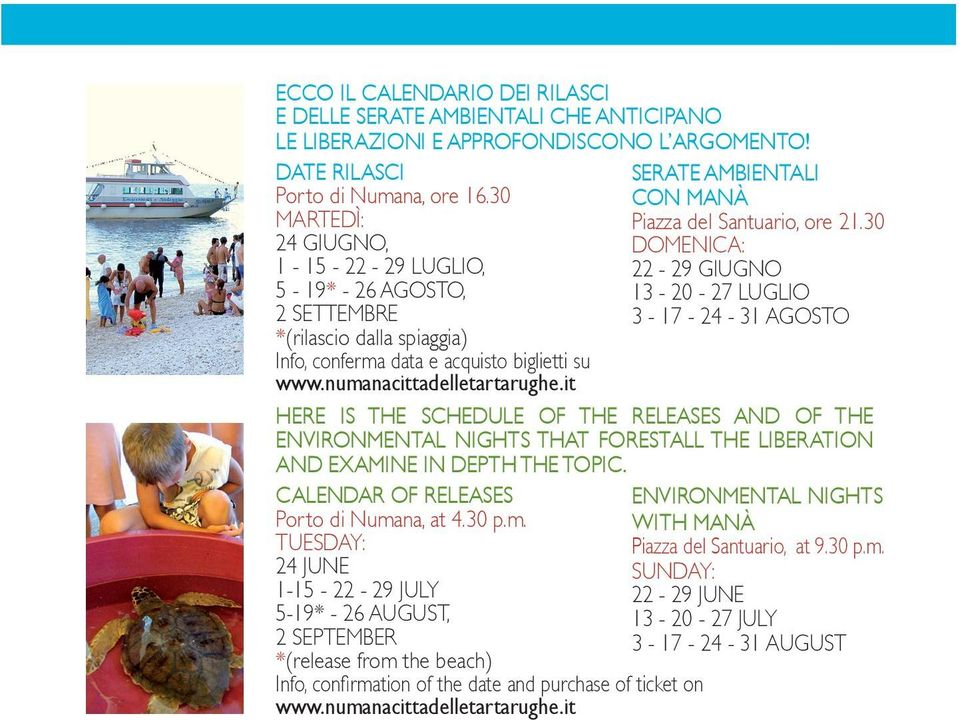 ENVIRONMENTAL NIGHTS THAT FORESTALL THE LIBERATION AND EXAMINE IN DEPTH THE TOPIC. CALENDAR OF RELEASES Porto di Numa