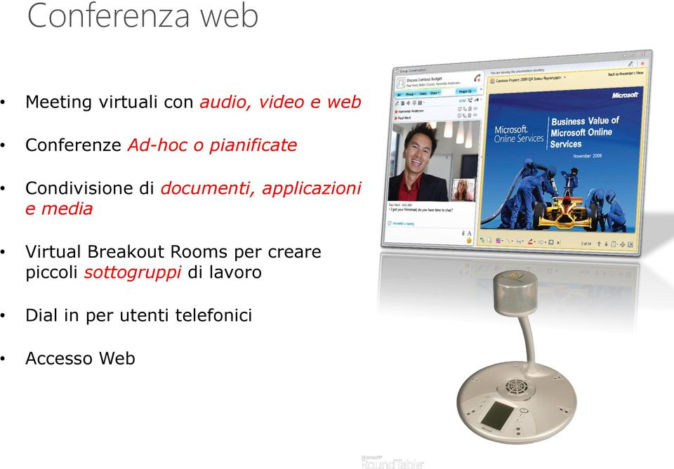 applicazioni e media Virtual Breakout Rooms per creare