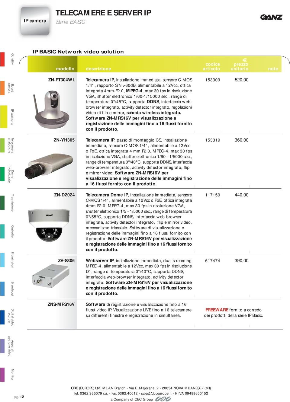, range di temperatura 0 /45, supporta DDNS, interfaccia webbrowser integrato, activity detector integrato, regolazioni video di flip e mirror, scheda wireless integrata.