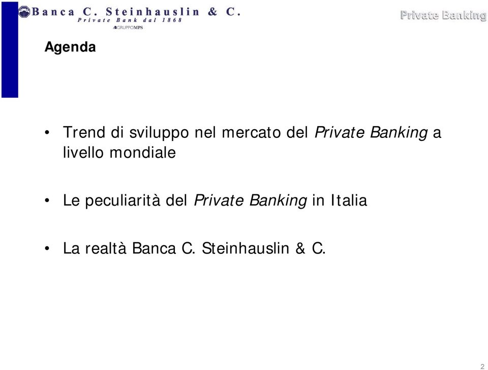 Le peculiarità del Private Banking in
