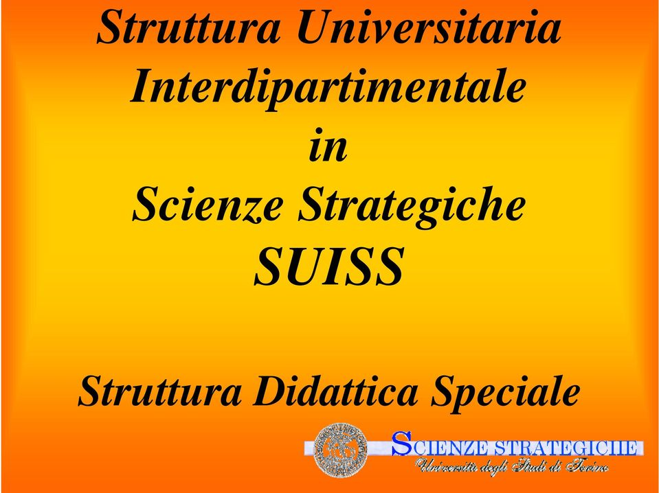 Scienze Strategiche SUISS