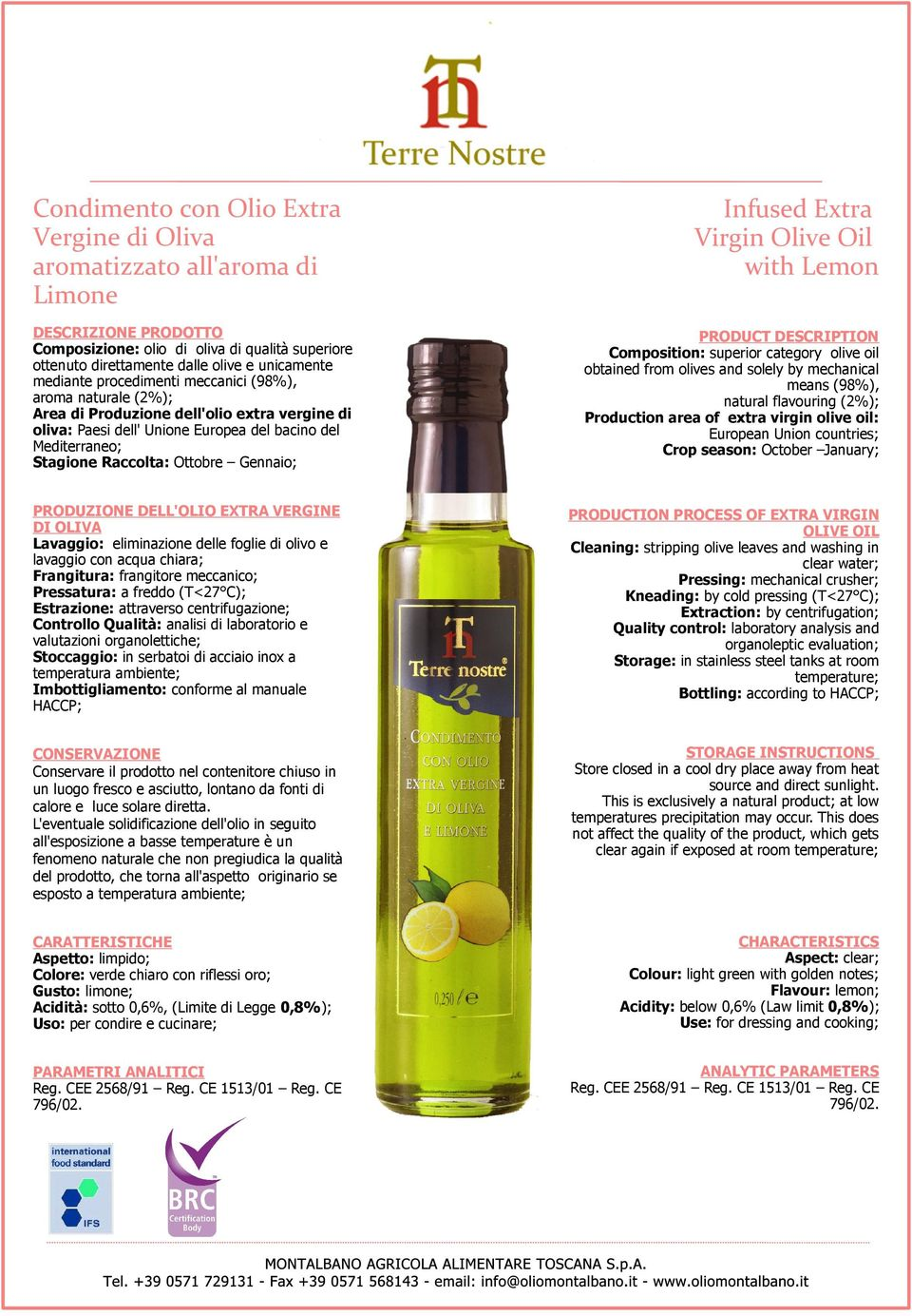 Olive Oil with Lemon means (98%), natural flavouring (2%);