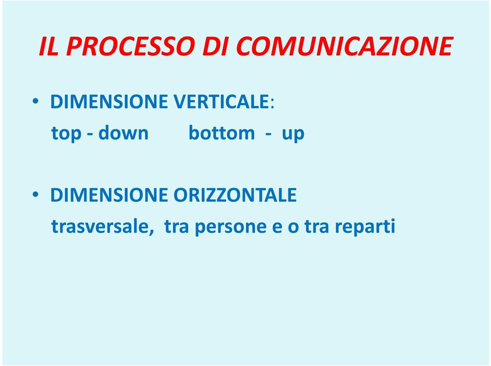 bottom - up DIMENSIONE