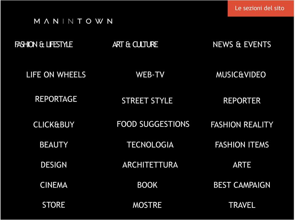 MUSIC&VIDEO REPORTAGE STREET STYLE REPORTER CLICK&BUY BEAUTY DESIGN