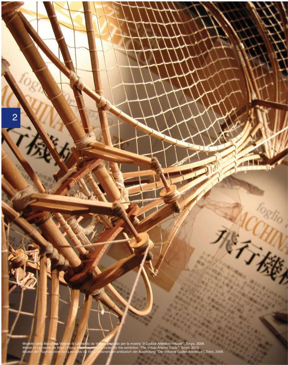 Model of Leonardo da Vinci's Flying Machine, reconstructed for the exhibition The Virtual