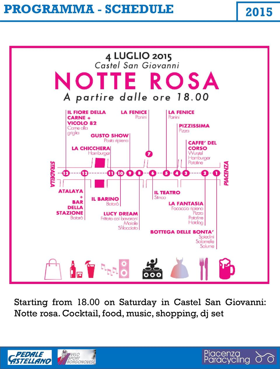 00 on Saturday in Castel San