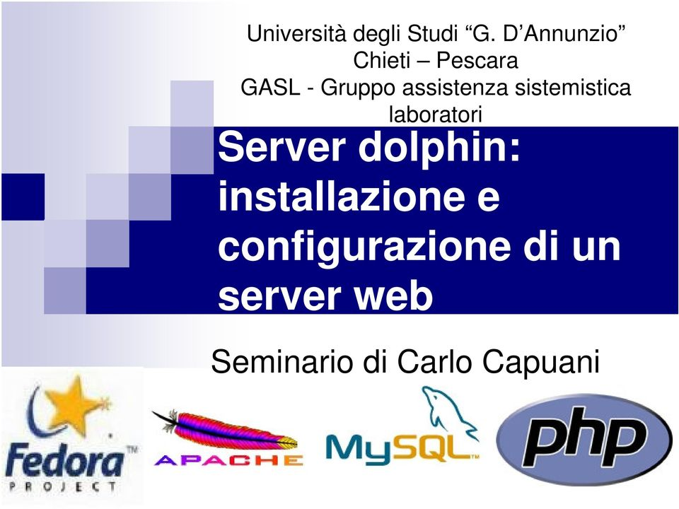 assistenza sistemistica laboratori Server
