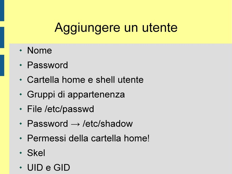 appartenenza File /etc/passwd Password