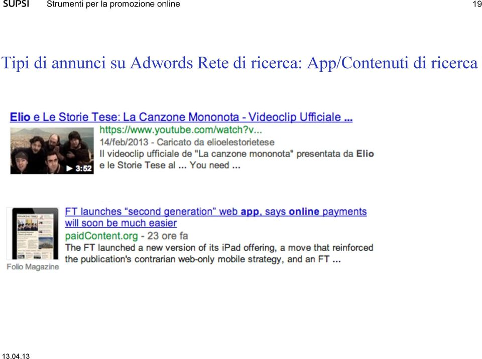 Adwords Rete di