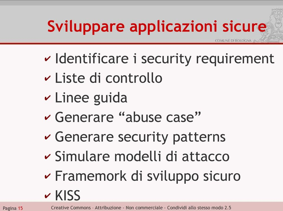 Generare abuse case Generare security patterns