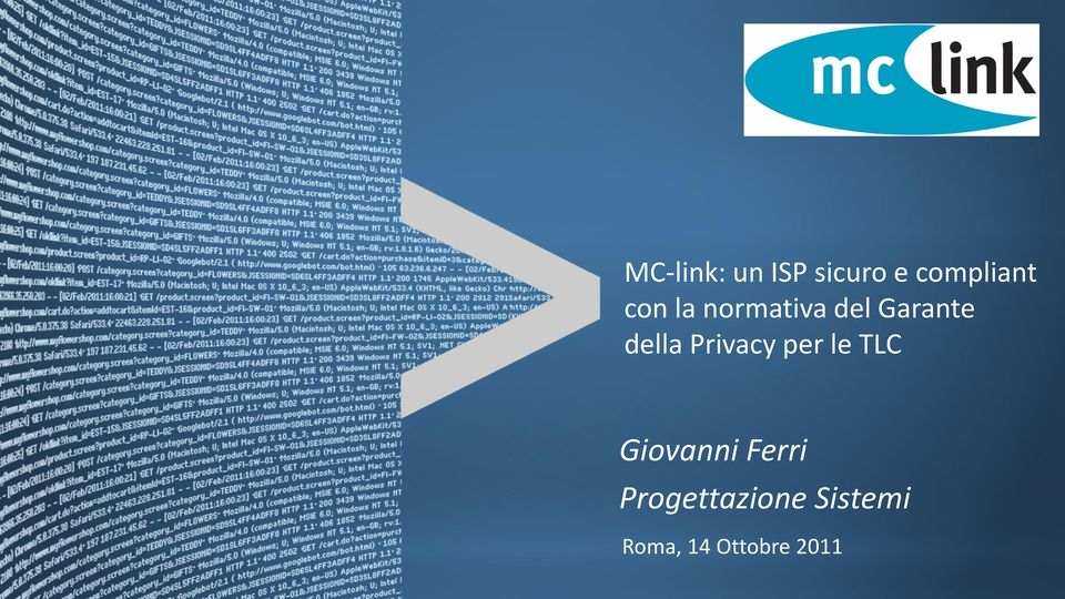 Privacy per le TLC Giovanni Ferri