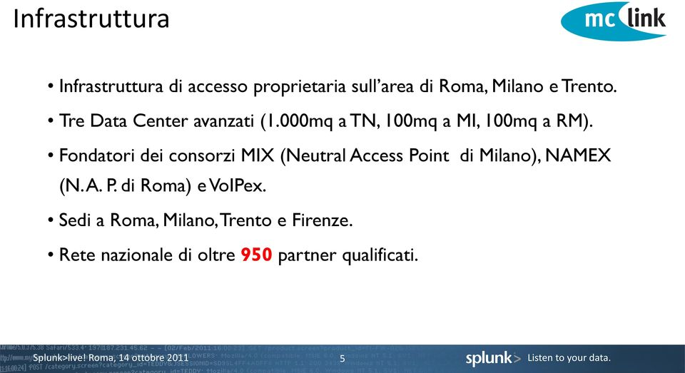 Fondatori dei consorzi MIX (Neutral Access Point di Milano), NAMEX (N. A. P. di Roma) e VoIPex.