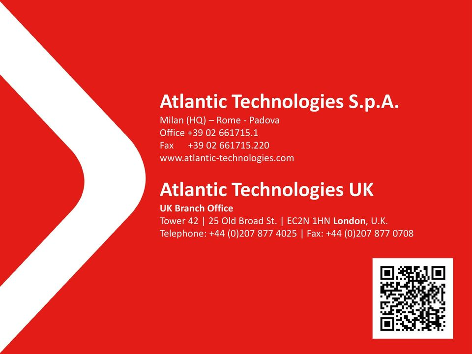 com Atlantic Technologies UK UK Branch Office Tower 42 25 Old Broad