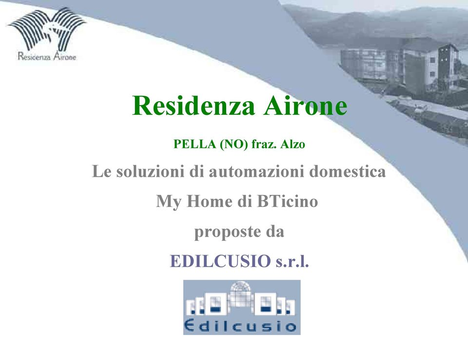 automazioni domestica My Home